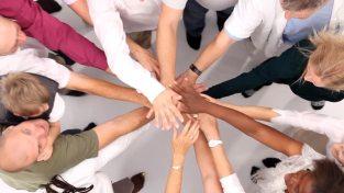 networking hands